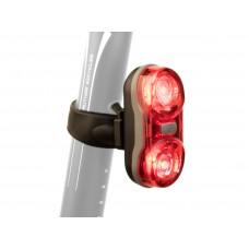 Фонарь мигалка задний Author-Duplex X7 20lm, черный с красными лизами
