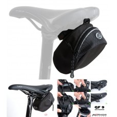 Сумка под седло Author A-S330 QF9, черная с рефлексивной полосой, вес 149 гр