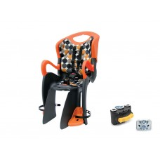 Кресло детское ABS-Tiger, на подседельную трубу рамы, максим.нагрузка 22 кг, сине/оранжевое
