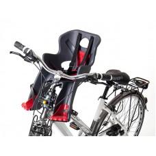 Кресло детское ABS - Rabbit sportfix, на переднюю трубу рамы, черно красное