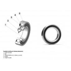 Подшипник 6200 2RS/RS/RU для втулки Xenon Disc F / ACO-H04D F/ ACO-H99 F под ось 10 мм