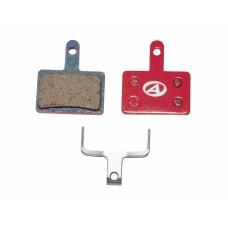Тормозные дисковые колодки ABS-23 Shi B01, полимер, красные
