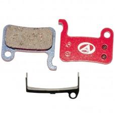 Тормозные дисковые колодки ABS-24 Shi M07, полимер, красные