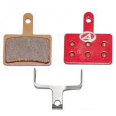 Тормозные дисковые колодки ABS-23S Shi B01, металл, красные