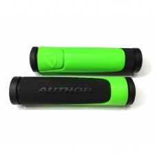 Грипсы AGR R600 D3  l.130mm (green-neon/black)