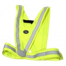 Жилет безопасности A-O44,  детский ,светоотражающий, неоново-желтый.
